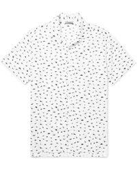 Lanvin - Camp-collar Dinosaur-print Cotton-voile Shirt - Lyst