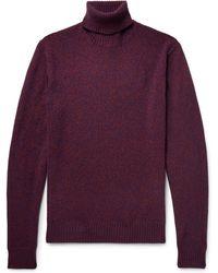Lardini - Slim-fit Mélange Wool Rollneck Sweater - Lyst