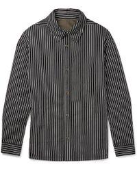 Lanvin - Reversible Striped Cotton-blend Twill Shirt Jacket - Lyst