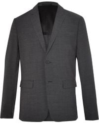 Theory - Clinton Charcoal Slim-fit Stretch Wool-blend Suit Jacket - Lyst