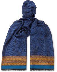 Etro - Webbing-trimmed Jacquard-knit Scarf - Lyst