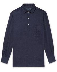 Frescobol Carioca - Slub Linen Half-placket Shirt - Lyst