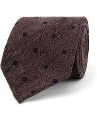 Thom Sweeney - 7cm Embroidered Wool And Silk-blend Tie - Lyst
