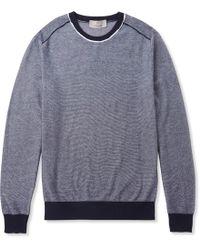 Canali - Textured Cotton Jumper - Lyst