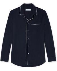 Desmond & Dempsey - Brushed-cotton Twill Pyjama Shirt - Lyst