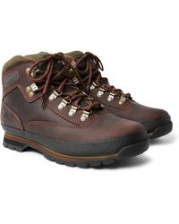 Timberland - Euro Hiker Rubber-trimmed Leather Boots - Lyst