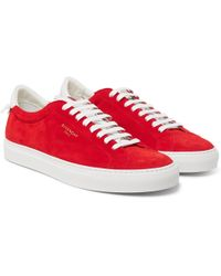 Givenchy - Urban Street Leather-trimmed Suede Trainers - Lyst