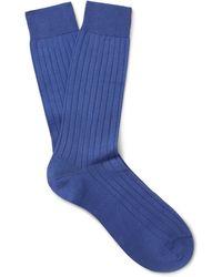 Pantherella - Pembrey Sea Island Cotton-blend Socks - Lyst