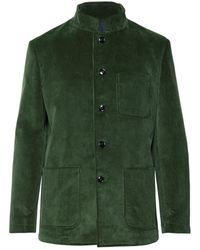 Mp Massimo Piombo - Dark-green Cotton-corduroy Suit Jacket - Lyst