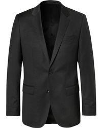 BOSS - Grey Hayes Slim-fit Super 120s Virgin Wool Suit Jacket - Lyst