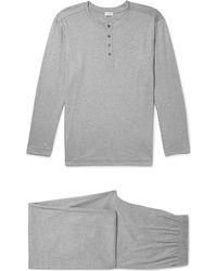 Zimmerli - Mélange Cotton-jersey Pyjama Set - Lyst