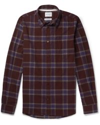 Norse Projects - Osvald Slim-fit Checked Cotton-flannel Shirt - Lyst