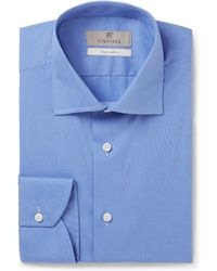 Canali - Blue End-on-end Cotton Shirt - Lyst