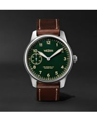 Weiss - American Issue 42mm Stainless Steel And Leather Field Watch - Lyst