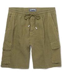 Vilebrequin - Baie Brushed-linen Bermuda Shorts - Lyst