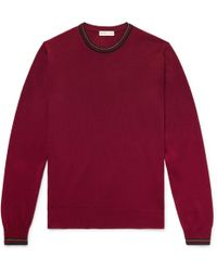 Etro - Contrast-tipped Wool Sweater - Lyst