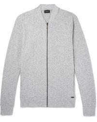 Hanro - Mélange Stretch-cotton Jersey Zip-up Sweatshirt - Lyst