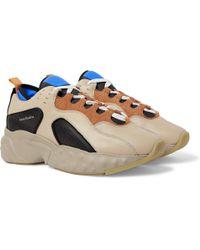 9641a18041 Acne Studios Sofiane Suede-trimmed Mesh Sneakers in Metallic for Men ...