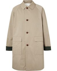 Burberry - Oversized Cotton-gabardine Coat - Lyst