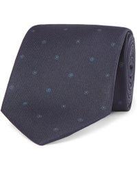 Drake's - Easyday 7cm Printed Silk Tie - Lyst