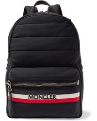 Moncler - New George Webbing And Leather-trimmed Quilted Shell Backpack - Lyst