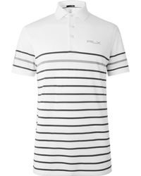 RLX Ralph Lauren - Striped Tech-piqué Polo Shirt - Lyst
