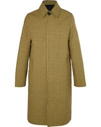 AMI - Oversized Houndstooth Virgin Wool And Cotton-blend Coat - Lyst