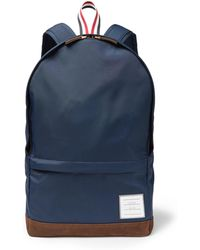 Thom Browne - Suede And Grosgrain-trimmed Canvas Backpack - Lyst