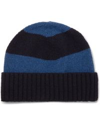 b796d891786 Oliver Spencer - Striped Wool Beanie - Lyst
