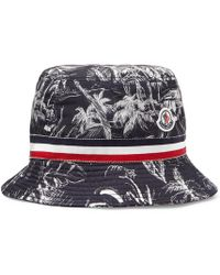 Moncler - Grosgrain-trimmed Printed Shell Bucket Hat - Lyst