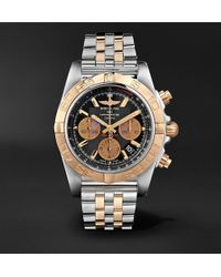 Breitling - Chronomat B01 Chronograph 44mm Stainless Steel And Gold Watch - Lyst