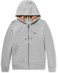 Burberry - Cotton-blend Jersey Hoodie - Lyst