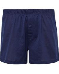 Hanro - Sporty Mercerised Cotton Boxer Shorts - Lyst