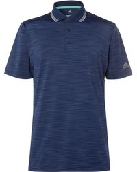 adidas Originals - Ultimate 365 Contrast-tipped Mélange Stretch-jersey Polo Shirt - Lyst
