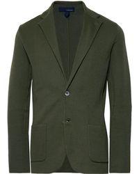 Lardini - Dark-green Slim-fit Unstructured Cotton Blazer - Lyst