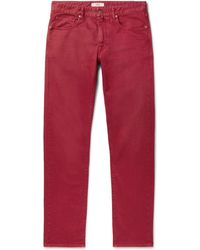 Incotex - Slim-fit Garment-dyed Cotton-blend Twill Chinos - Lyst