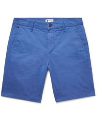 NN07 - Crown Garment-dyed Stretch-cotton Twill Shorts - Lyst