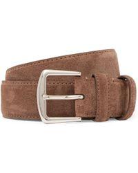 Loro Piana - 3.5cm Brown Suede Belt - Lyst