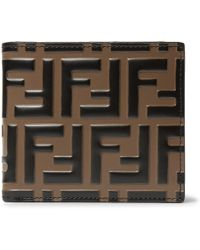 Fendi - Logo-embossed Leather Billfold Wallet - Lyst