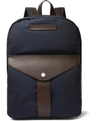 Brunello Cucinelli - Full-grain Leather And Nylon Backpack - Lyst
