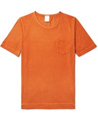Massimo Alba - Panarea Garment-dyed Cotton-jersey T-shirt - Lyst