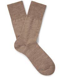 Falke   Airport Mélange Virgin Wool-blend Socks   Lyst