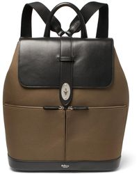 Mulberry - Reston Leather And Canvas Backpack - Lyst