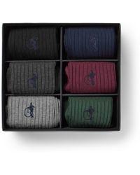 London Sock Co. - The Sartorial Six-pack Stretch Cotton-blend Socks - Lyst