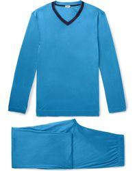 Zimmerli - Contrast-trimmed Lyocell Pyjama Set - Lyst
