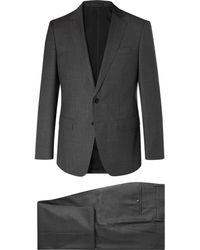 BOSS - Dark-grey Huge Genius Slim-fit Virgin Wool Suit - Lyst