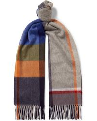 Begg & Co - Arran Fringed Checked Cashmere Scarf - Lyst