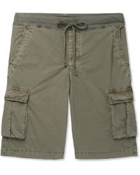 James Perse - Cotton-blend Drawstring Cargo Shorts - Lyst