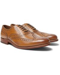 Grenson - Dylan Leather Wingtip Brogues - Lyst