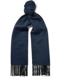 Lanvin - Two-tone Fringed Cashmere Scarf - Lyst